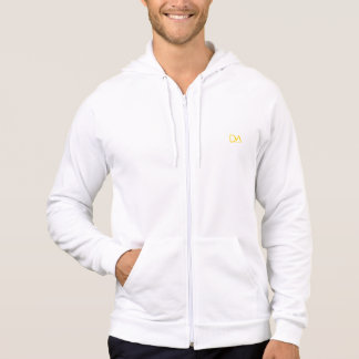 De Mario Collection White Zip Up Hoodie