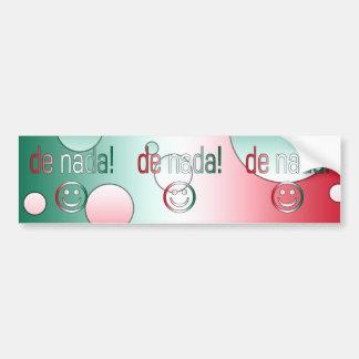 De Nada Mexico Flag Colors Pop Art Bumper Stickers