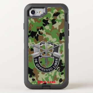 DE OPPRESSO LIBER  (Special Forces Motto) OtterBox Defender iPhone 7 Case