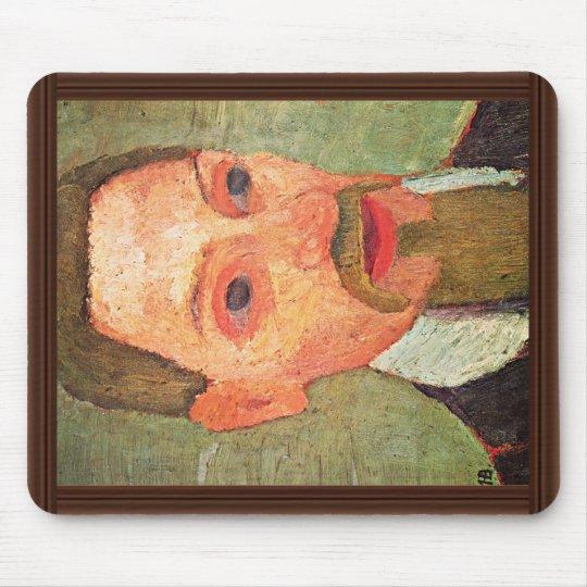 De: Portrait Of Rainer Maria Rilke By Paula Mouse Mat