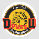 De Pussification University Official Product Round Stickers