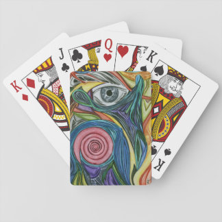 De Rose Deck abstract art playing cards