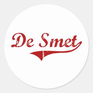 De Smet South Dakota Classic Design Stickers