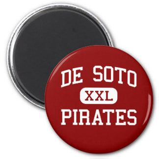 De Soto - Pirates - High - De Soto Wisconsin 6 Cm Round Magnet