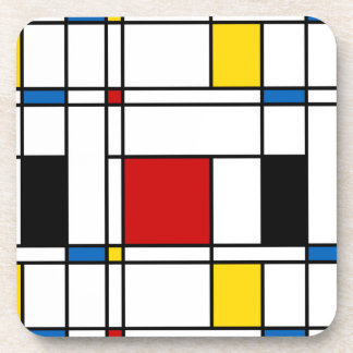 De Stijl Pattern Beverage Coasters