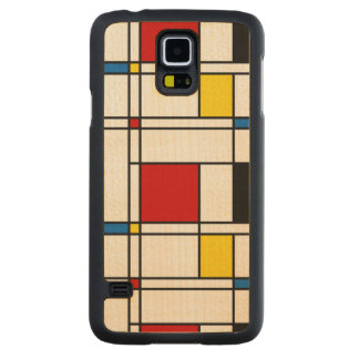 De Stijl Pattern Carved Maple Galaxy S5 Case