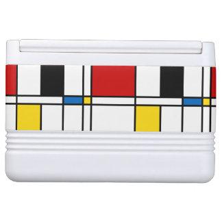 De Stijl Pattern Igloo Cool Box
