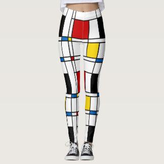 De Stijl Pattern Leggings