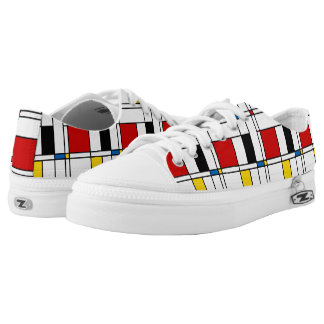 De Stijl Pattern Low Tops