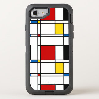De Stijl Pattern OtterBox Defender iPhone 8/7 Case
