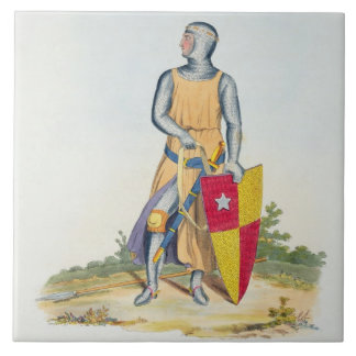 De Vere, Earl of Oxford, 1280, from 'Ancient Armou Tile