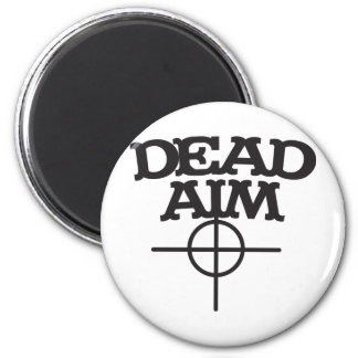 dead aim with sight target refrigerator magnet