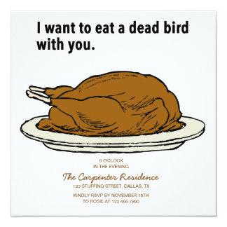 Dead Bird Thanksgiving Invitation