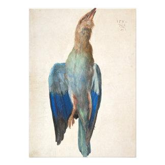Dead Blue Roller by Albrecht Durer Custom Invitations