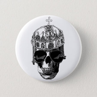 Dead Byzantine Emperor with sunglasses 6 Cm Round Badge