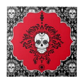 Dead Damask - Chic Framed Sugar Skull Tile