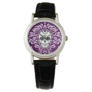 Dead Damask - Chic Sugar Skull Wrist Watch