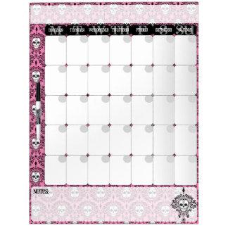 Dead Damask - Chic Sugar Skulls Calendar Board Dry Erase Whiteboard