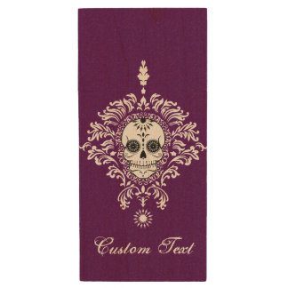 Dead Damask - Chic Sugar Skulls Custom USB Drive