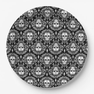 Dead Damask - Chic Sugar Skulls 9 Inch Paper Plate