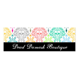 Dead Damask - Custom Skinny Sugar Skull Bizcards Pack Of Skinny Business Cards