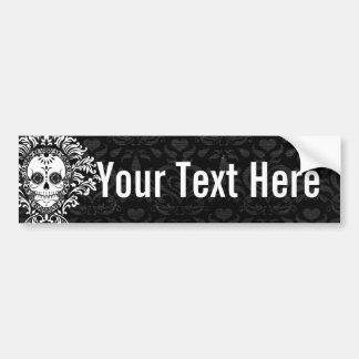 Dead Damask - Custom Sugar Skull Bumper Sticker