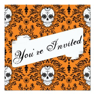 Dead Damask - Custom Sugar Skull Invitation