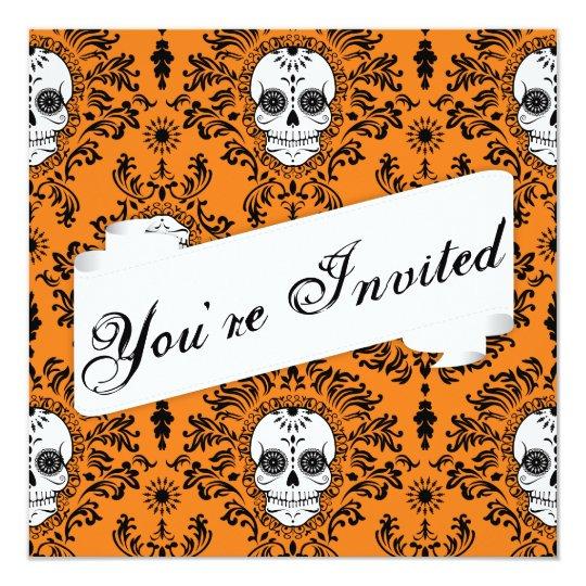 Dead Damask - Custom Sugar Skull Invitation