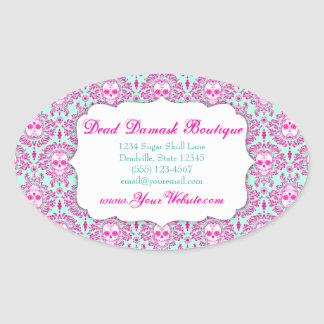 Dead Damask - Custom Sugar Skulls Label Sticker