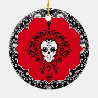 Dead Damask - Custom Sugar Skulls Ornament