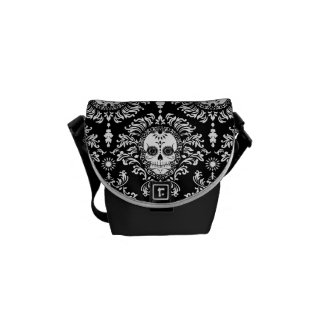 Dead Damask Sugar Skulls Mini Messenger Bag