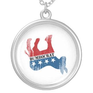 Dead Dumbocrat Faded.png Necklace