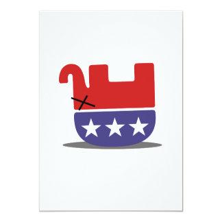 Dead Elephant GOP 13 Cm X 18 Cm Invitation Card