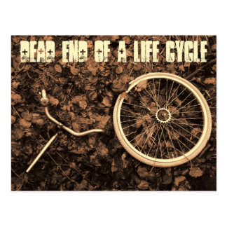 Dead end of a life cycle postcard
