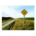 Dead end traffic sign, Palouse, Washington Post Card
