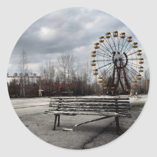 Dead Ferris Wheel Round Sticker