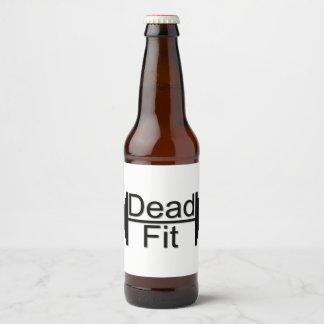 Dead Fit custom beer bottle labels