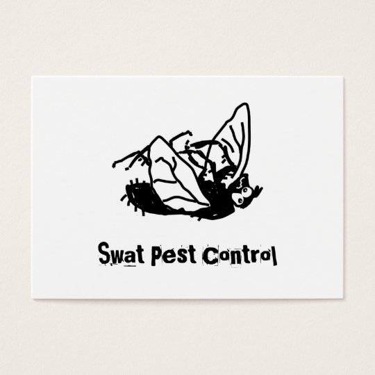 Dead Fly, Swat Pest Control Business Card