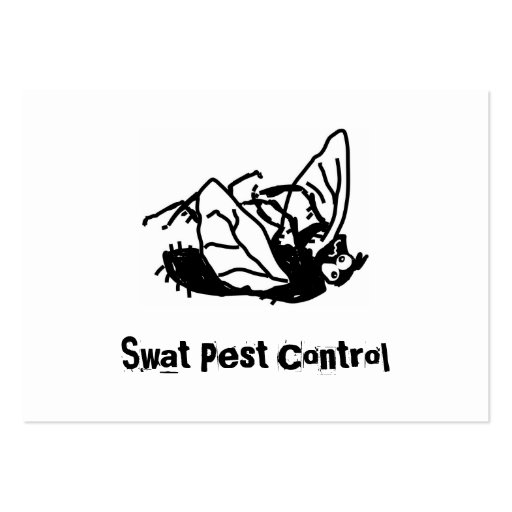 Dead Fly, Swat Pest Control Business Card Template