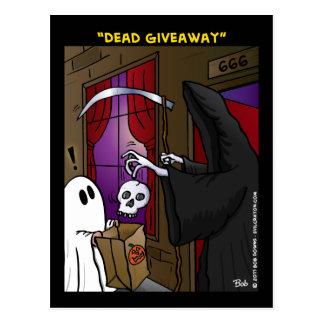 """Dead Giveaway"" Postcard"
