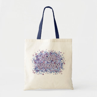 Dead Groovy (floral and skull and bones) Tote Bag