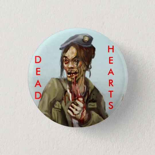 Dead Hearts Novels Zombie Girl 3 Cm Round Badge