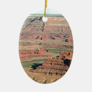 Dead Horse Point State Park, Utah, USA 4 Christmas Ornament