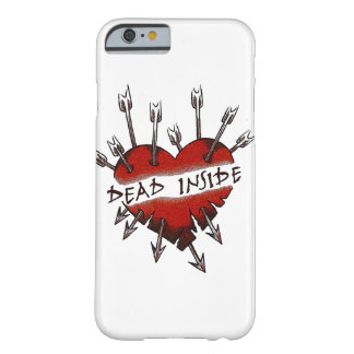 Dead Inside pierced heart Barely There iPhone 6 Case