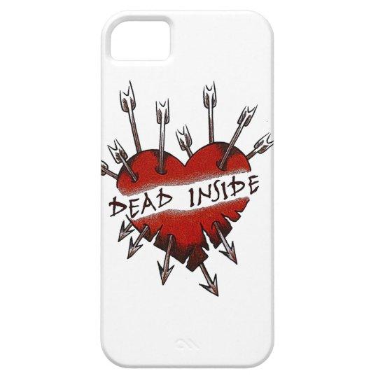 Dead Inside pierced heart iPhone 5 Case