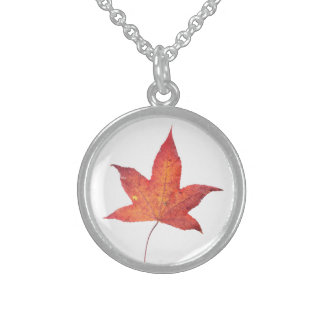 Dead Leaf Sterling Silver Necklace
