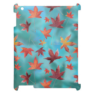 Dead Leaves Cyan iPad Cover