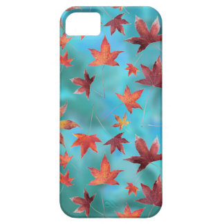 Dead Leaves over Cyan iPhone 5 Case