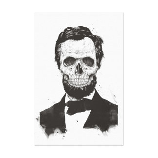 Dead Lincoln (black and white) Canvas Print