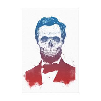 Dead Lincoln Canvas Print